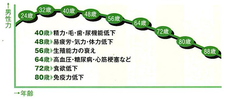 男性40代は漢方元年。60代は適齢期。