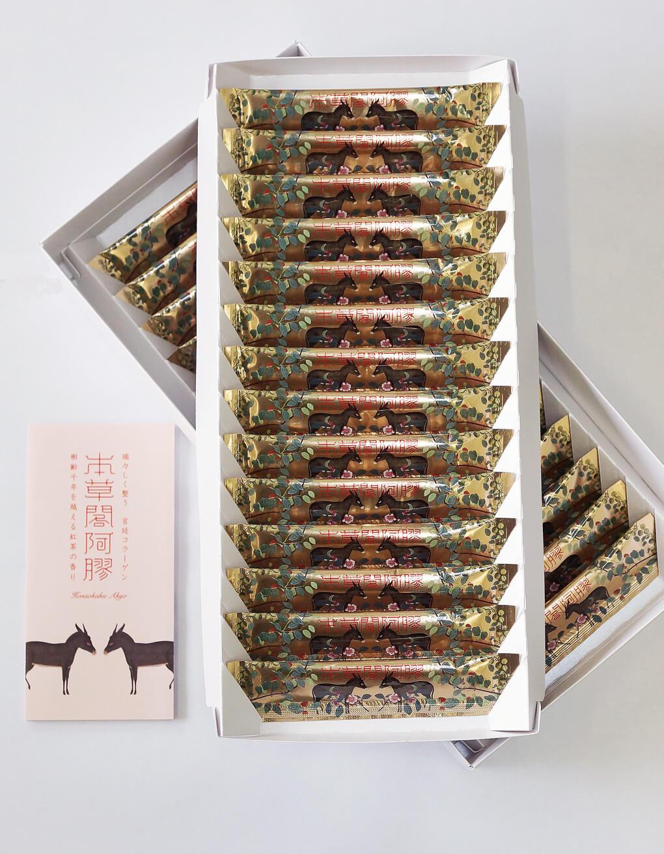 本草閣阿膠(8g×28本)しっかり試せるお得な紙箱セット 阿膠(あきょう)・5種類の和漢エキス配合